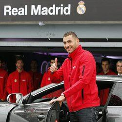 Karim Benzema en la presentación de un coche de alta gama