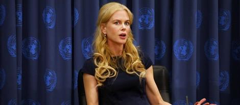 Nicole Kidman durante una conferencia contra la violencia de género de Naciones Unidas