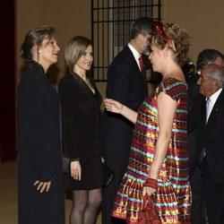 Ágatha Ruiz de la Prada en la cena del presidente de Colombia a los Reyes Felipe y Letizia