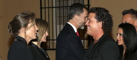 Carlos Vives en la cena del presidente de Colombia a los Reyes Felipe y Letizia
