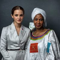 Emma Watson y la directora ejecutiva de ONU Mujeres Phumzile Mlambo-Ngcuka