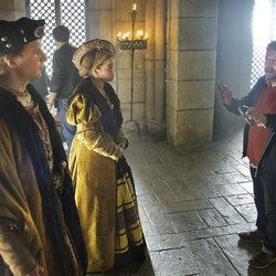Álvaro Cervantes y Marina Salas en la grabación de 'Carlos, Rey Emperador'