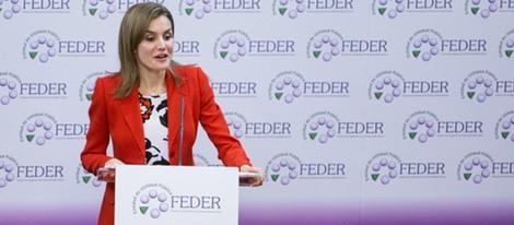 La Reina Letizia da las gracias a FEDER en el acto oficial del Día Mundial de las Enfermedades Raras