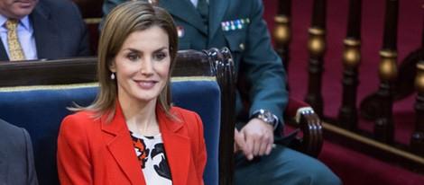 La Reina Letizia, muy contenta en el Acto oficial del Día Mundial de las Enfermedades Raras
