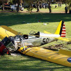 Avioneta de Harrison Ford estrellada en un campo de golf de California
