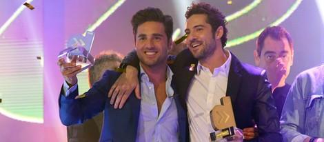 David Bustamante y David Bisbal en los Premios Cadena Dial 25 Aniversario