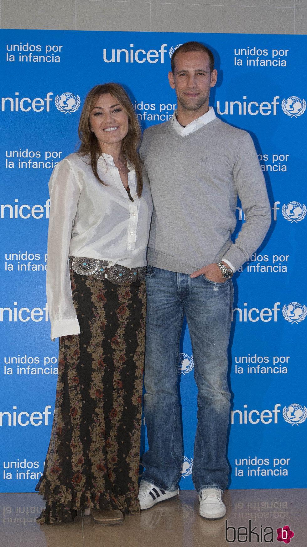 Amaia Montero y Gonzalo Miró en un evento solidario de Unicef