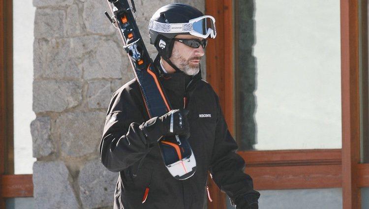 El Rey Felipe VI, a punto de esquiar en Baqueira Beret