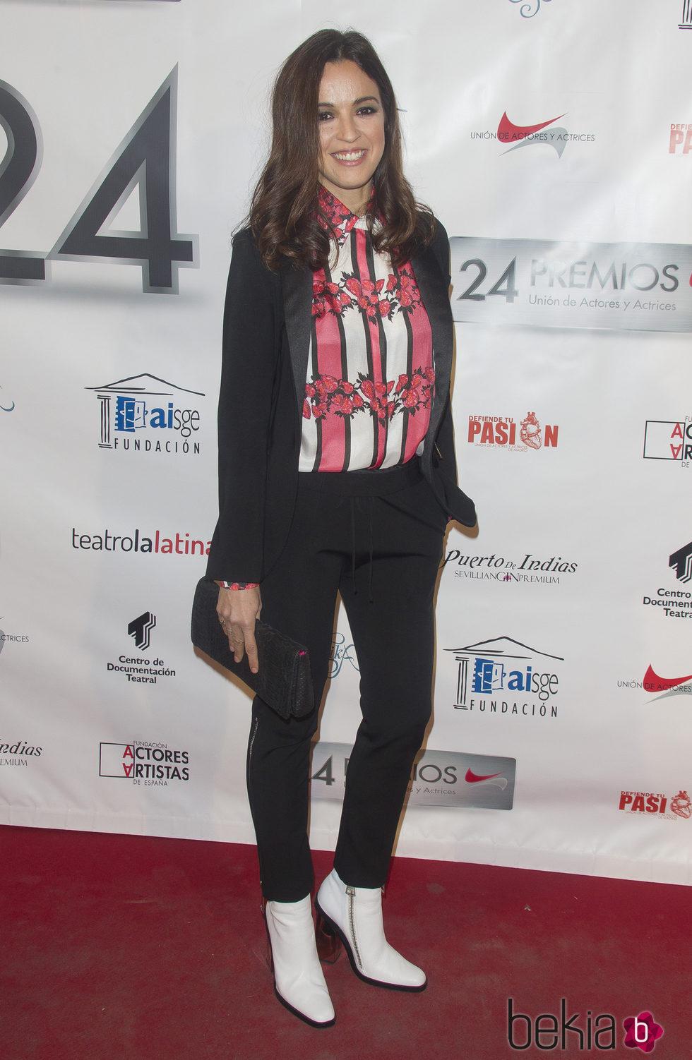 Verónica Sánchez en la entrega de los Premios Unión de Actores 2015
