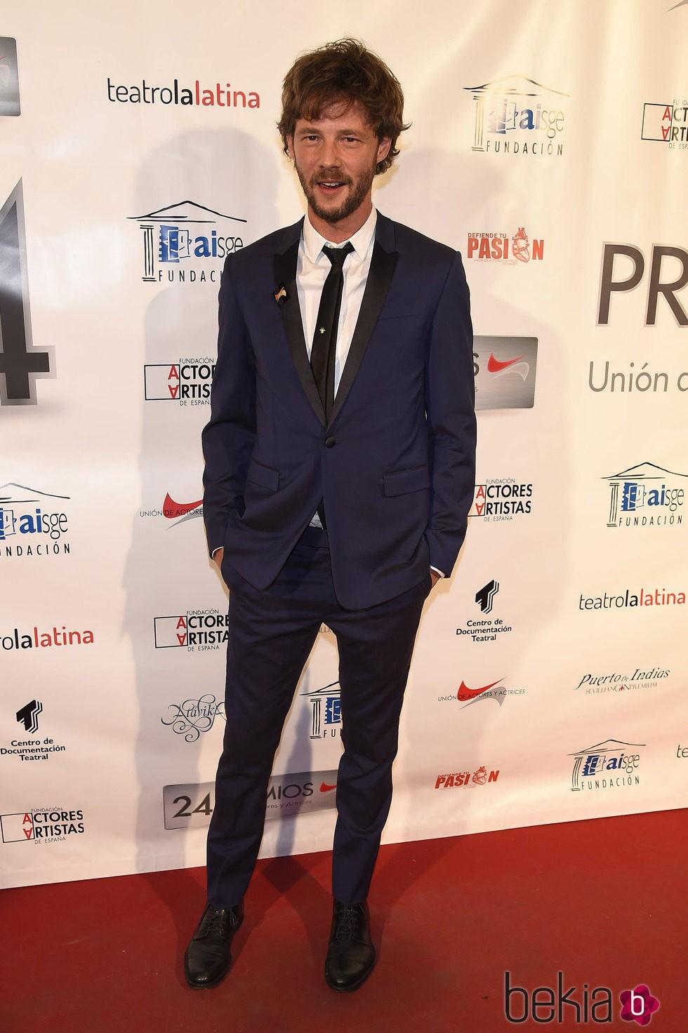 Eloy Azorín en la entrega de los Premios Unión de Actores 2015