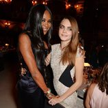 Naomi Campbell y Cara Delevingne en los British Fashion Awards 2014