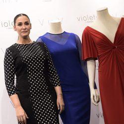 Vicky Martín Berrocal en la presentación de su colección 'V in V'