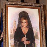 Retrato de Terelu Campos como musa de la exaltación de la mantilla