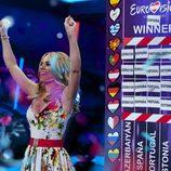 Edurne se proclama ganadora de Eurovisión 2015 en 'El hormiguero'