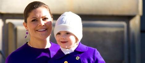 Victoria de Suecia celebra su santo con la Princesa Estela