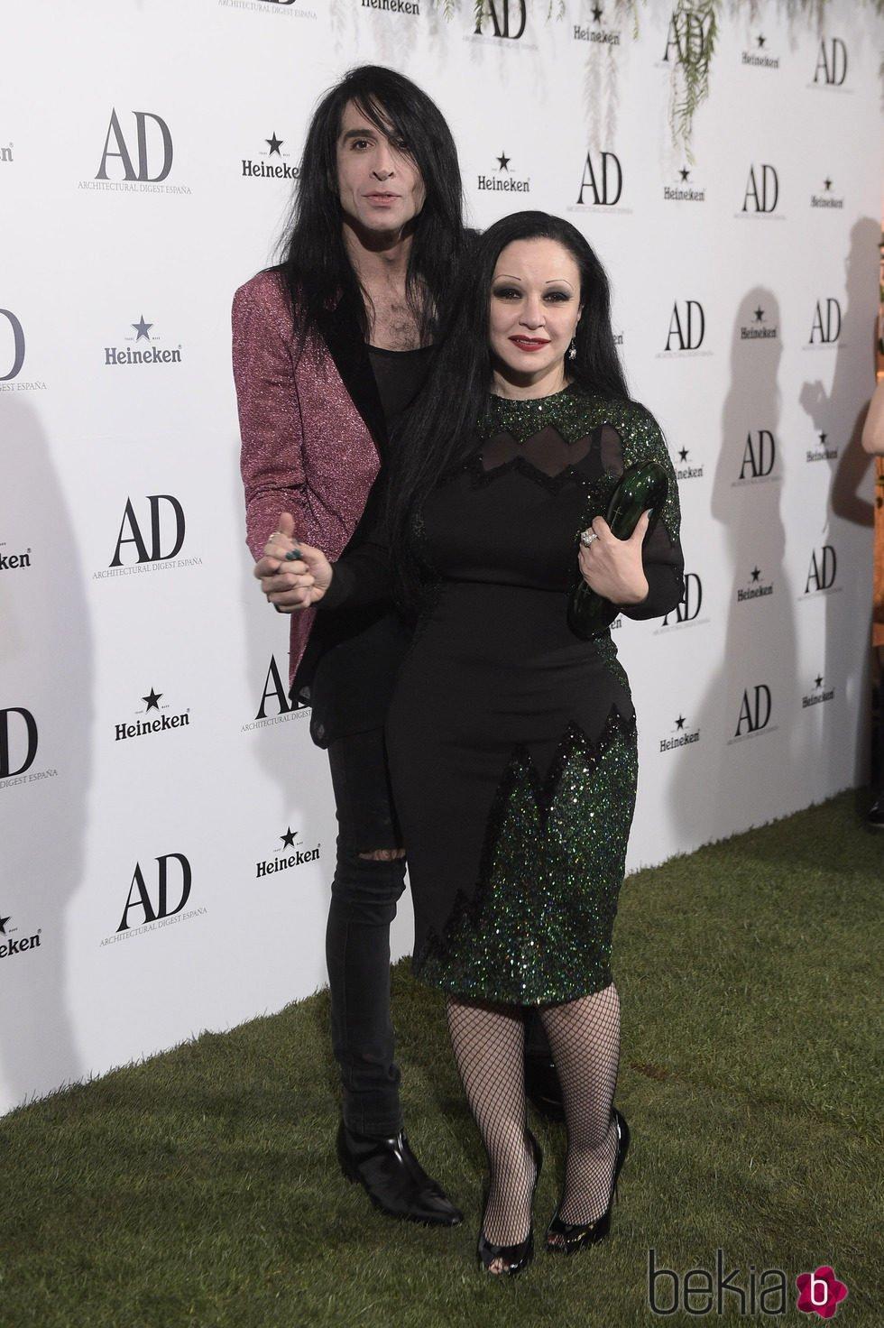 Alaska y Mario Vaquerizo en los Premios AD 2015