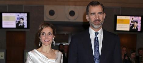 Los Reyes Felipe y Letizia en la ópera 'El Público' en el Teatro Real