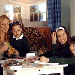 Ana Obregón durante el rodaje de 'Ana y los 7'