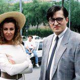 Ana Obregón y El Gran Wyoming durante el rodaje de la serie 'La mujer de tu vida'