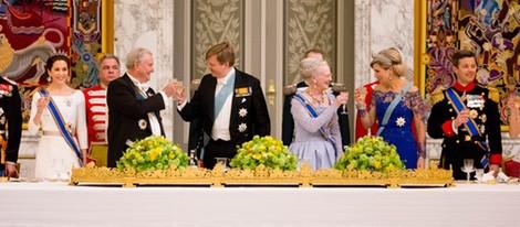 Los Reyes de Holanda en una cena de gala con la Familia Real Danesa en Copenhague