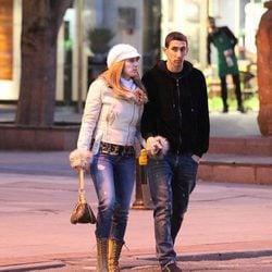 Ángel Di María y Jorgelina Cardoso paseando por Manchester