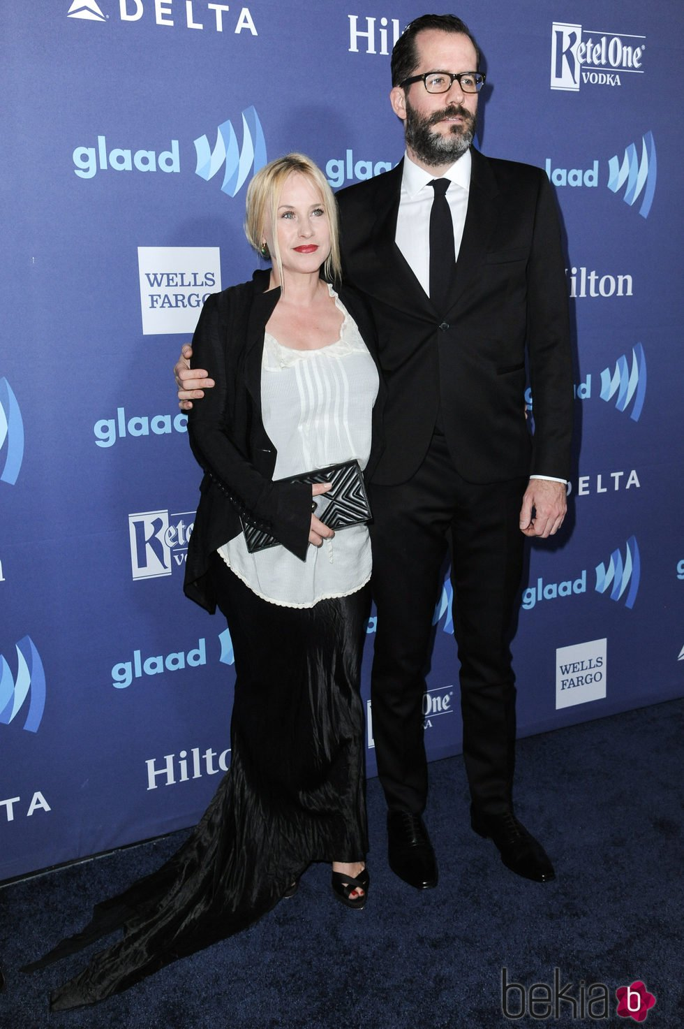 Patricia Arquette y Eric White en los GLAAD Media Awards 2015