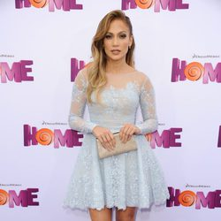 Jennifer Lopez en el photocall de la premiere de Home
