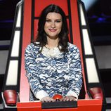 Laura Pausini en su silla giratoria de 'La Voz 3'