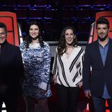 Alejandro Sanz, Laura Pausini, Malú y Antonio Orozco en la presentación de 'La Voz 3'