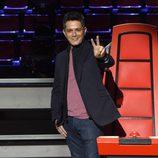 Alejandro Sanz en la presentación de 'La Voz 3'