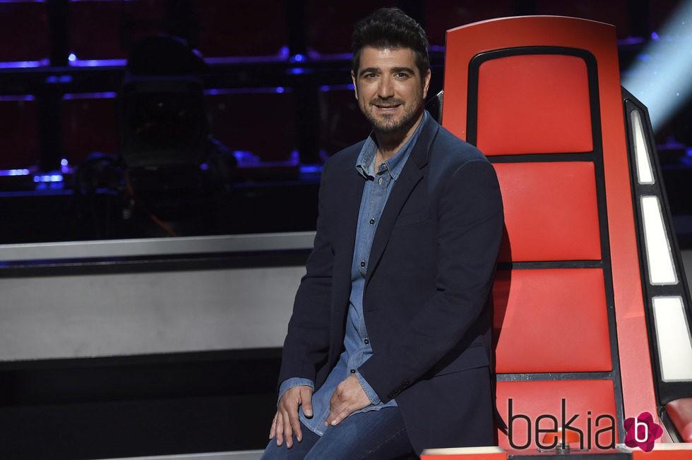 Antonio Orozco en la presentación de 'La Voz 3'