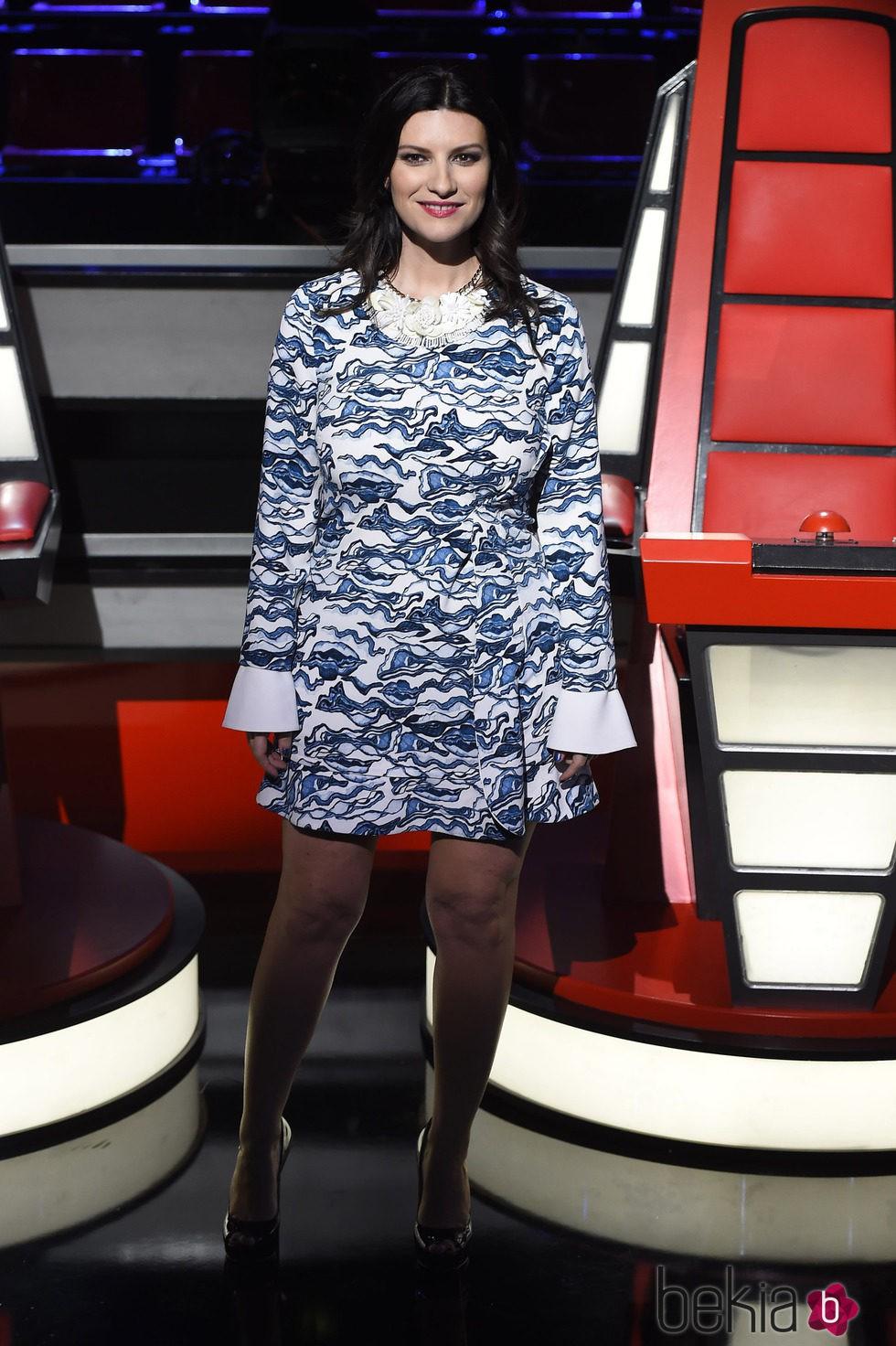 Laura Pausini en la presentación de 'La Voz 3'