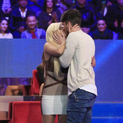 Fede besando a Ylenia tras su salida en la semifinal de 'Gran Hermano VIP'