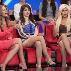Olvido Hormigos, Ares Teixidó e Ylenia discutiendo en la semifinal de 'Gran Hermano VIP'