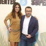 Lara Álvarez y Jorge Javier Vázquez en la presentación de 'Supervivientes 2015'