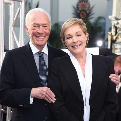 Christopher Plummer y Julie Andrews en la celebración del 50 aniversario de 'Sonrisas y lágrimas' en Hollywood