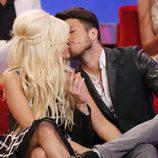 Ylenia y Fede besándose en la gala final de 'Gran Hermano VIP'