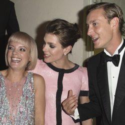 Lily Allen, Carlota y Pierre Casiraghi en el Baile de la Rosa 2015