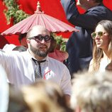 Kiko Rivera e Irene Rosales en la procesión de Domingo de Ramos en Sevilla