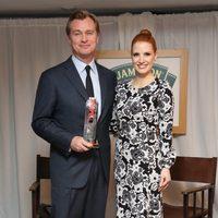 Christopher Nolan y Jessica Chastain en los Premios Empire 2015