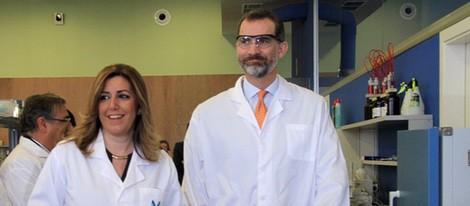 El Rey Felipe y Susana Díaz en la inauguración de las nuevas instalaciones de una empresa en Sevilla