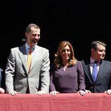 El Rey Felipe con Susana Díaz en la Semana Santa de Sevilla 2015