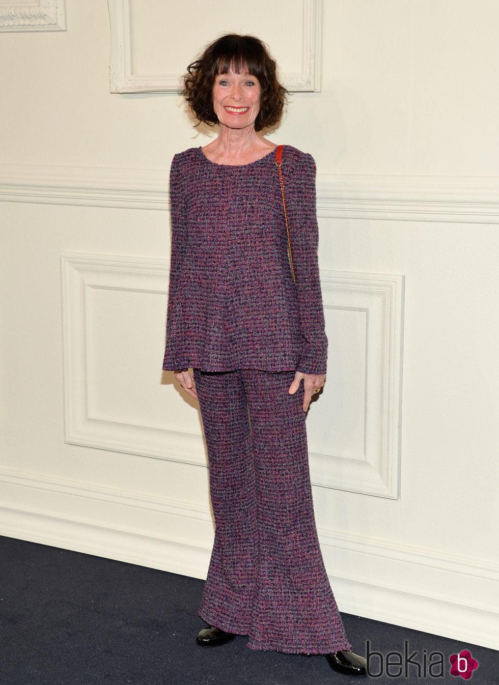 Geraldine Chaplin en la presentación en Nueva York de la colección de Chanel París-Salzburgo 2014/15