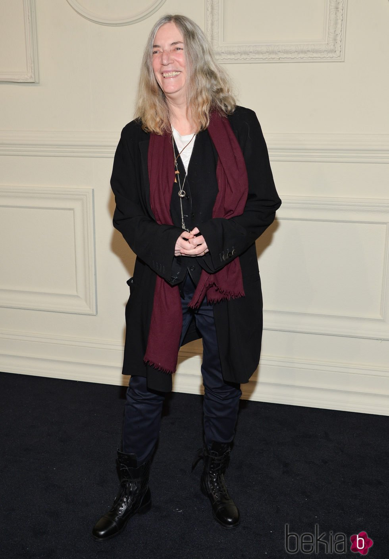 Patti Smith en la presentación en Nueva York de la colección de Chanel París-Salzburgo 2014/15