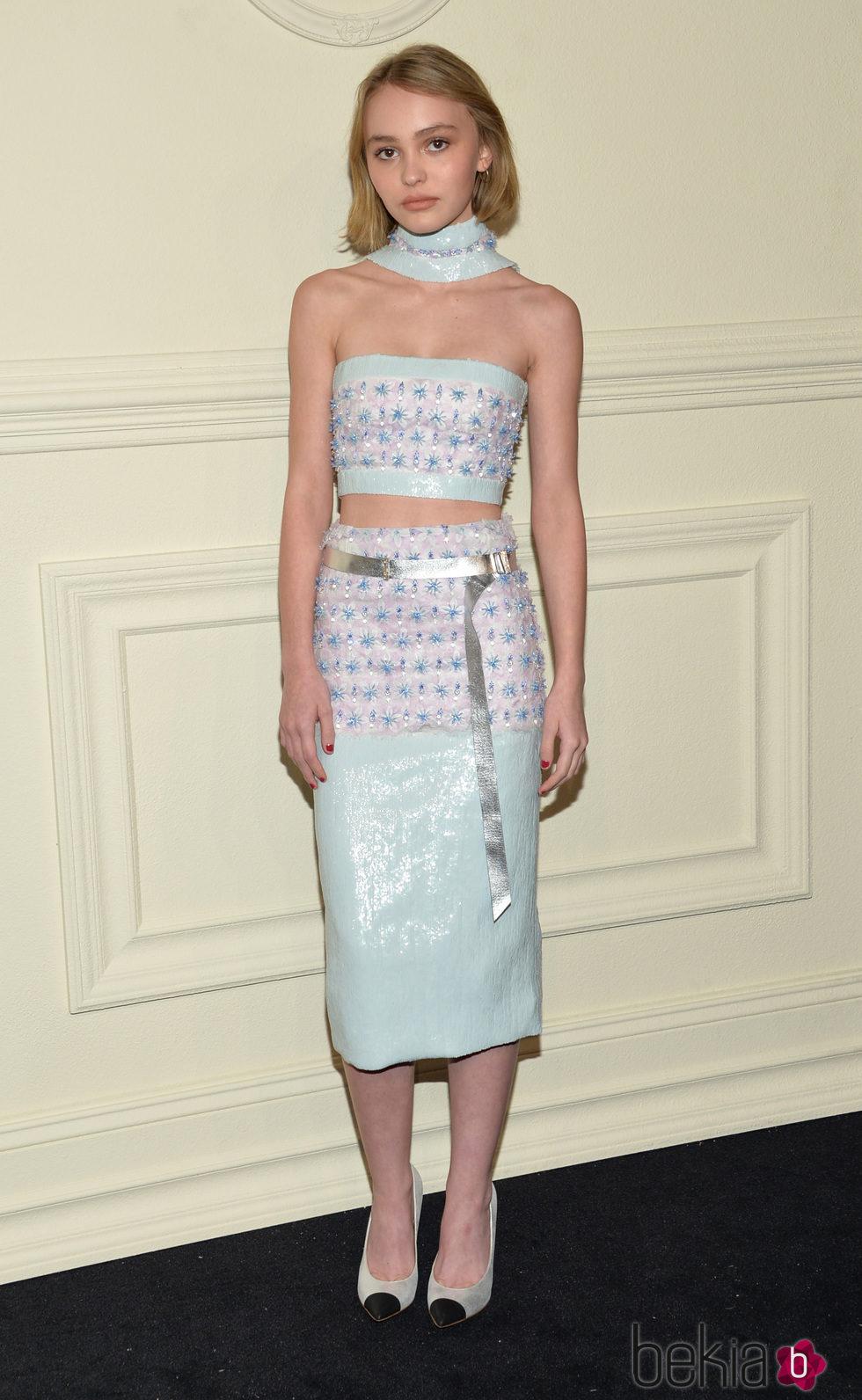 Lilly-Rose Depp en la presentación en Nueva York de la colección de Chanel París-Salzburgo 2014/15