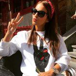 Paula Echevarría celebrando sus vacaciones en Asturias