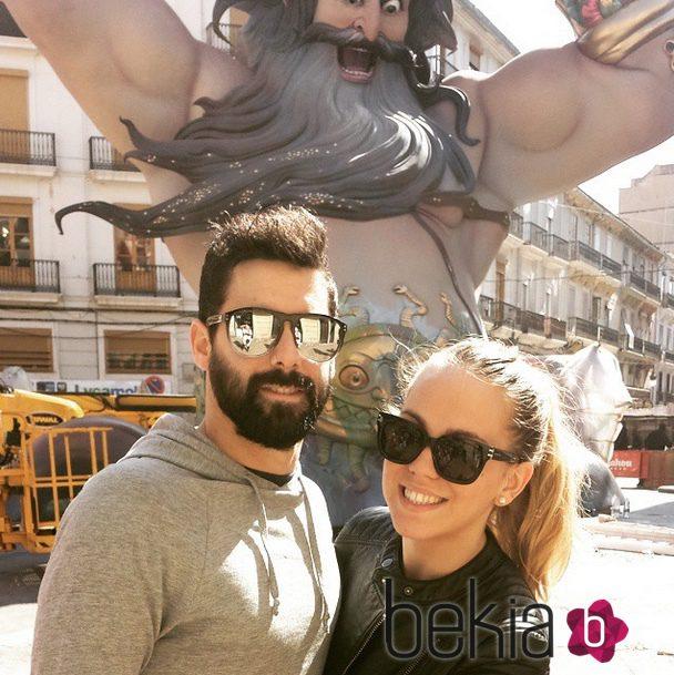Jonathan y Yoli, de 'GH 15', disfrutan de las Fallas en Valencia