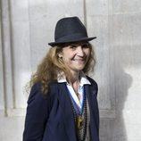La Infanta Elena posa muy sonriente durante la Semana Santa de Madrid