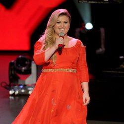 Kelly Clarkson en una de las galas de la edición número 14 de 'American Idol'
