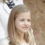 La Princesa Leonor saludando en la Misa de Pascua 2015 en Palma de Mallorca